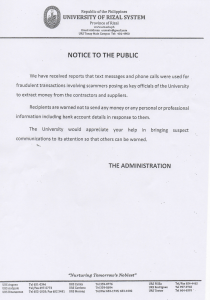 notice of meeting ISO027